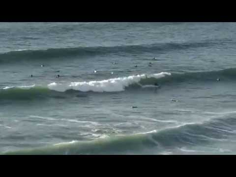 Surfing Fistral Beach, Newquay, Cornwall (8th october 2015)