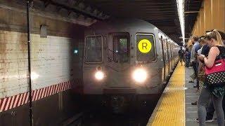 MTA NYC Subway: R68A (R) Train Action via Broadway Line