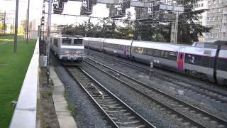 BB 67593 SNCF+13 trains TER+8 trains TGV