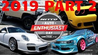 Nitto Tires Auto Enthusiast Day 2019 PART 2 Insane Car Show Tacoma S14 240sx M2 GT3 4Runner Supra