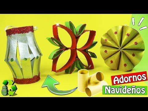 231. Manualidades para navidad: Adornos reciclados (Reciclaje) Ecobrisa