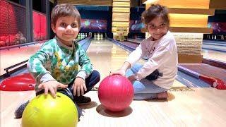 Eğlenceli bowling challenge Azra ve Selim ile bowling oyunu nasıl oynanır? Eğlenceli yarışma