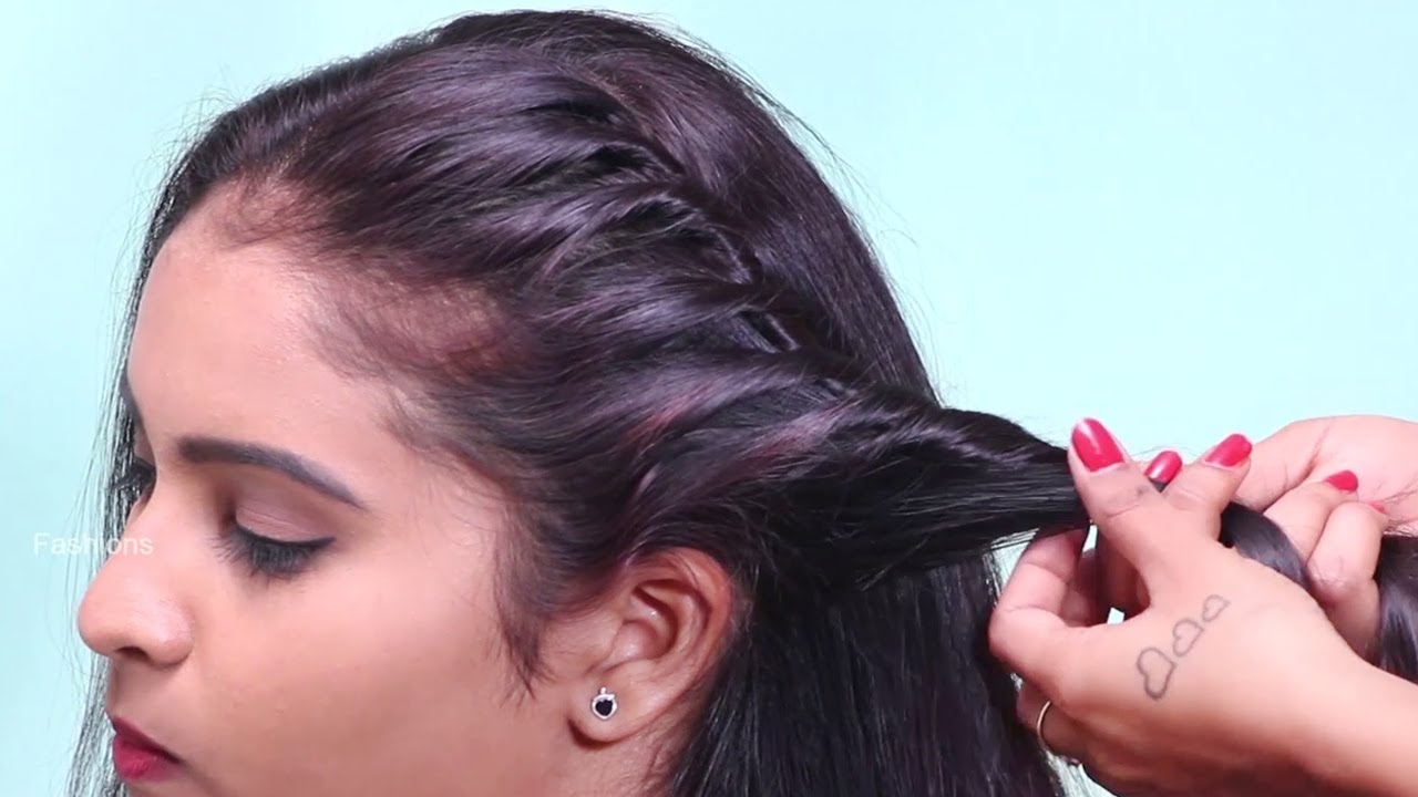 New Easy juda hairstyle with gajra / simple hairstyle / cute hairstyle / hairstyle for girls
