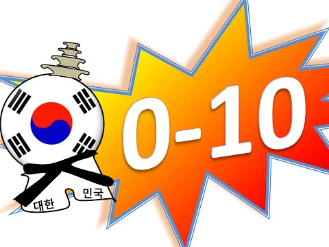 COUNTING TO TEN in Korean 010