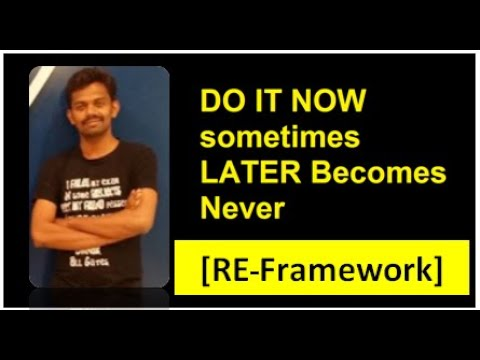 RE Framework, its very easy (UiPath)