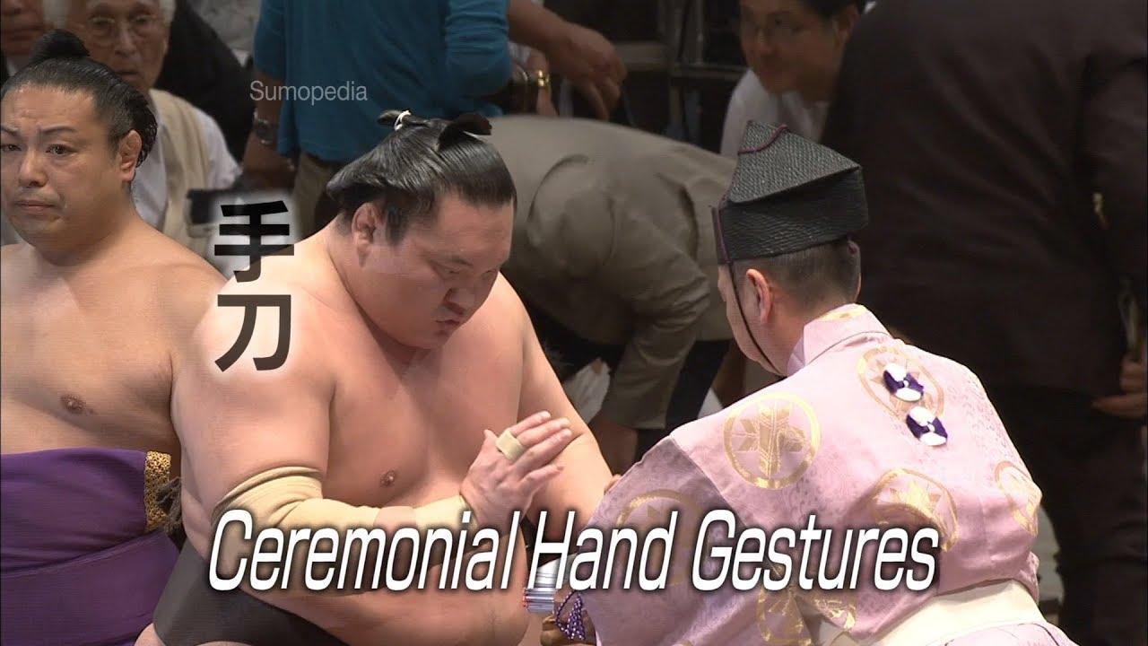 Photo of Ceremonial Hand Gestures [手刀] – SUMOPEDIA – video