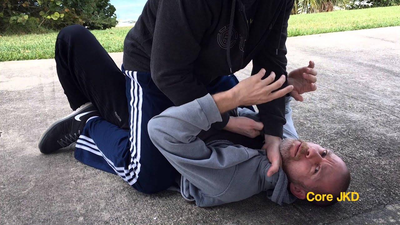 Shirt Choke Escape or Gi choke escape—Core JKD Street Ground Self Defense