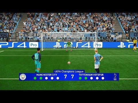MANCHESTER CITY vs TOTTENHAM | UEFA Champions League - UCL | Penalty Shootout | PES 2019
