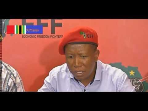 "MUST WATCH: Julius Malema says ""Cyril Ramaphosa loves anything white"""