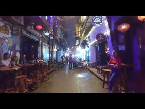 4k Nightlife in Hanoi Vietnam - footage