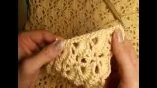 5  Как связать простую шаль, обвязка края