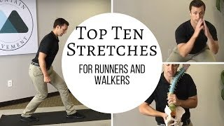 The Top Ten Stretches for Runners and Walkers w Dr. Day and Fleet Feet.