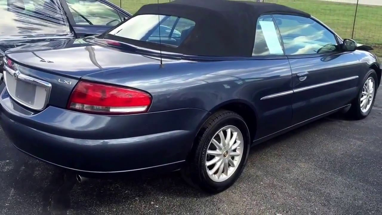 Stoystown Auto Sales >> 2002 CHRYSLER Sebring convertible salvage rebuildable near Pittsburgh pa stock #160335 - YouTube