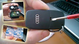 Викидний ключ - інструкція з розбирання і заміни батарейки в автомобільному ключі Ауді А6, А4, Passat