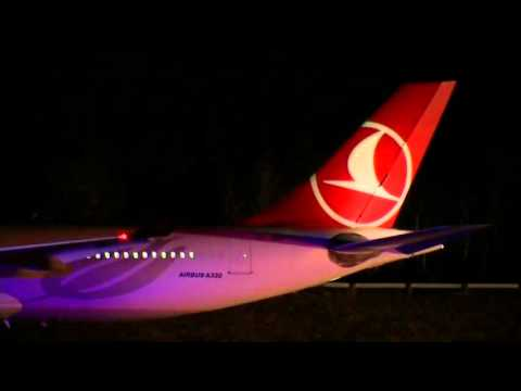 Turkish Jet Resumes Flight After Bomb Scare - Raw Video