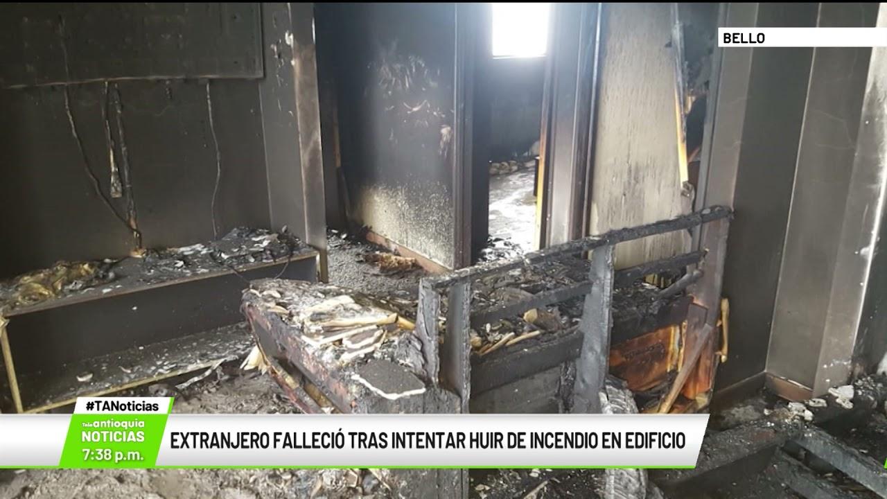 Extranjero falleció tras intentar huir de incendio