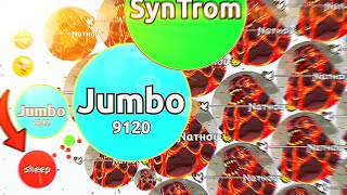 My BEST Agar.io Gameplay EVER!! (Jumbo Solo Takeover)