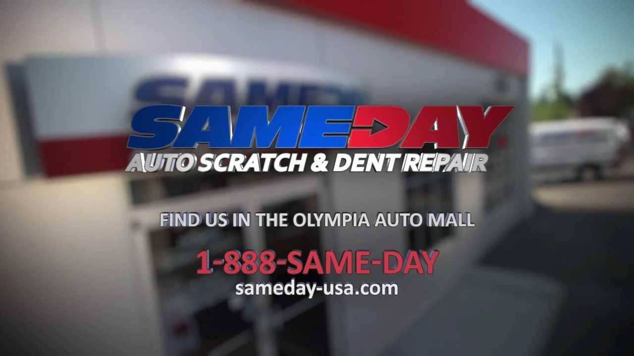 Same Day Auto >> Sameday Auto Scratch And Dent Commercial Professional Scratch And Dent Repair Done In One Day