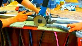 Порезка керамических прижимных площадок для гриндера