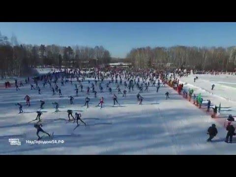 Лыжня России 2016 - съёмка с высоты