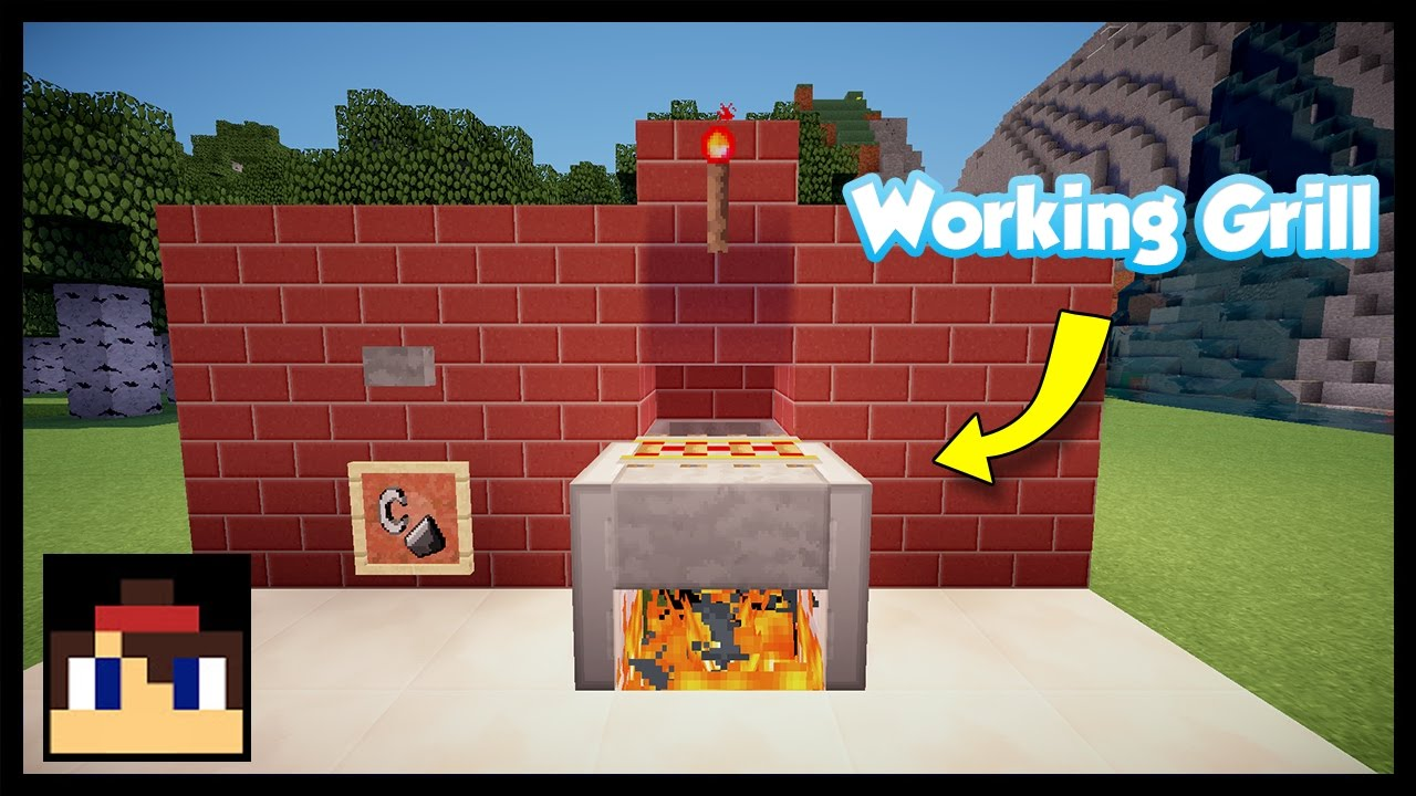minecraft  how to make a working grill