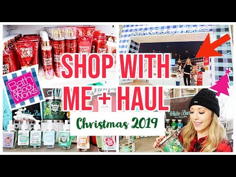 SHOP WITH ME + HUGE HAUL! BATH + BODY WORKS CHRISTMAS 2019 | Brianna K