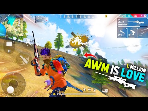 AWM Is Love - 21 Kills Total In Free Fire | Incredible Awm Sniping | Garena Free Fire - P.K. GAMERS
