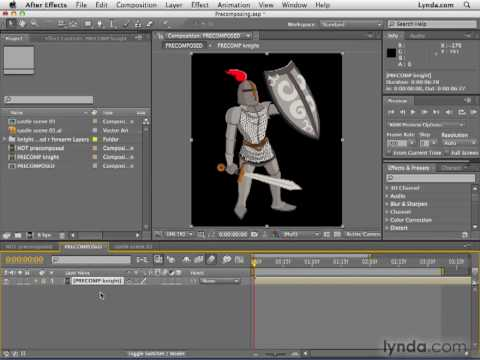 Adobe after effects cs4 tutorial 116 when precompose youtube.
