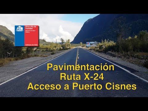 Camino X 24, Acceso A Puerto Cisnes.
