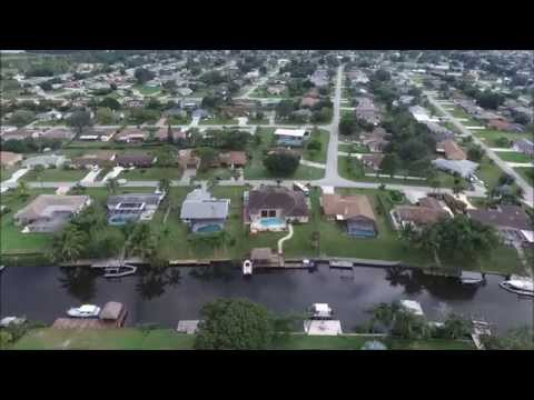 drone flying around port st lucie, florida