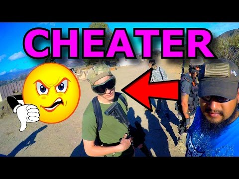 Airsoft CHEATER Draws Blood with 500FPS DMR (Airsoft Gameplay, Argument)