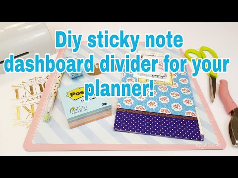 DIY sticky note dashboard divider for your planner | Planning With Eli
