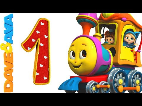 Number Song  Number Train 1 to 10  Counting Song and Nursery Rhymes from Dave and Ava