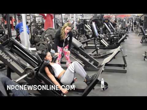 3x Ms.Physique Olympia Juliana Malacarne Trains IFBB Bikini Pro Danielle Taddeo: See Leg Workout