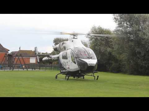 G-KAAT MD 902 Explorer - take-off in Camber East Sussex