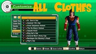 dragon ball xenoverse all clothes