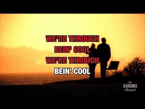 Through Being Cool in the style of Devo | Karaoke with Lyrics