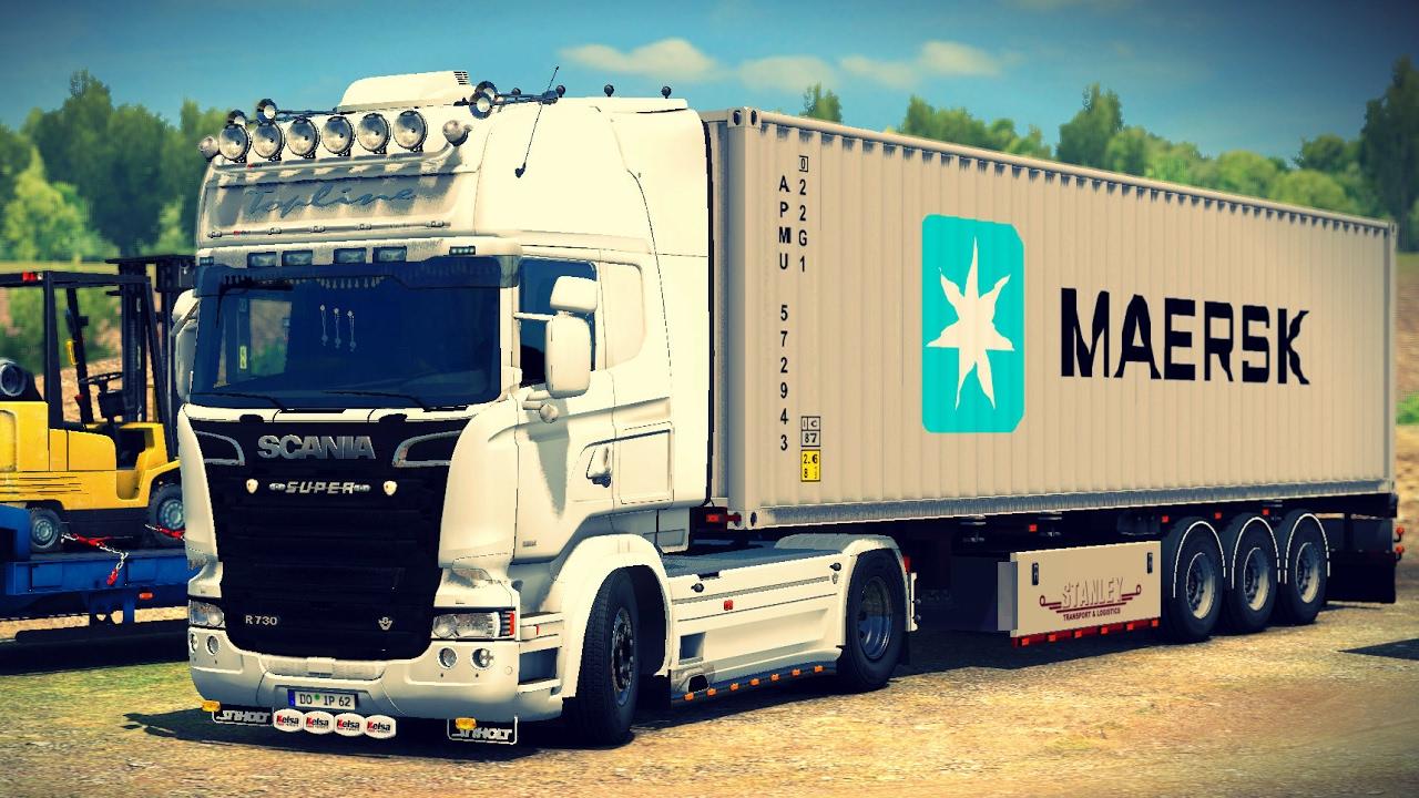 [ETS2 v1 26] White Lady | Scania r730