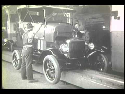 Ford Auto Manufacturing Old And New The Moving Assembly Line Youtube