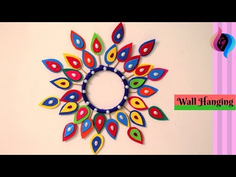 how-to-make-wall-hanging-craft-ideas---wall-hanging-paper-decoration---home-decorating-ideas-diy