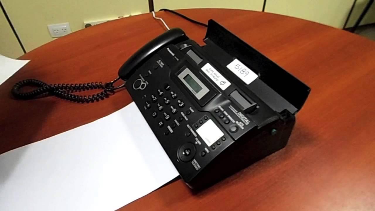 Инструкция факса panasonic kx ft934