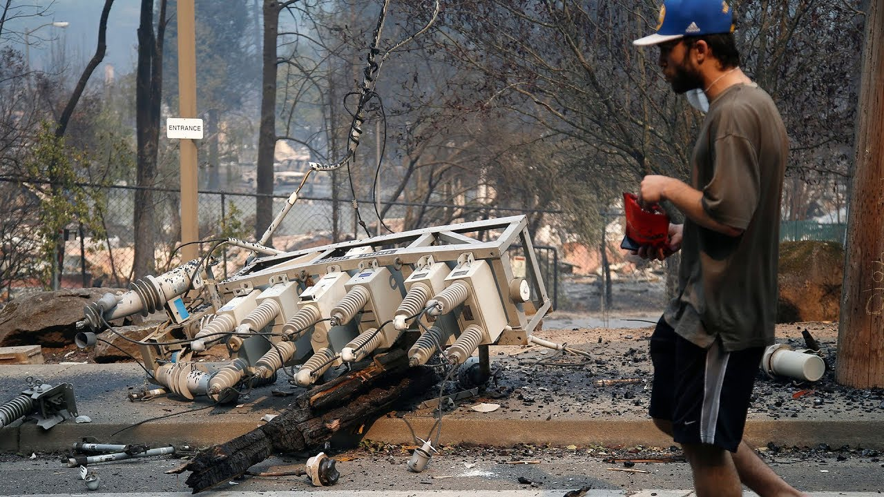 PG&E power lines may be linked to Wine Country fires