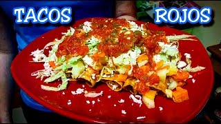 BEST Mexican Tacos - AUTHENTIC Tacos Rojos Potosinos - DEEP Mexican Food