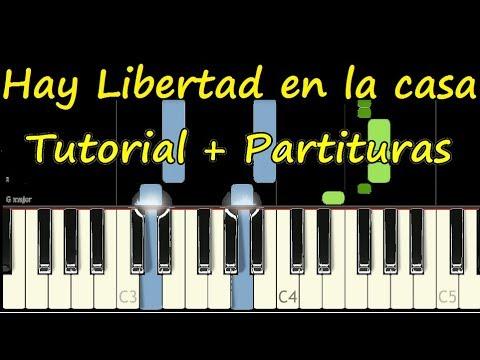 HAY LIBERTAD EN LA CASA DE DIOS Piano Tutorial COMPLETO Cover Facil + Partitura PDF Midi