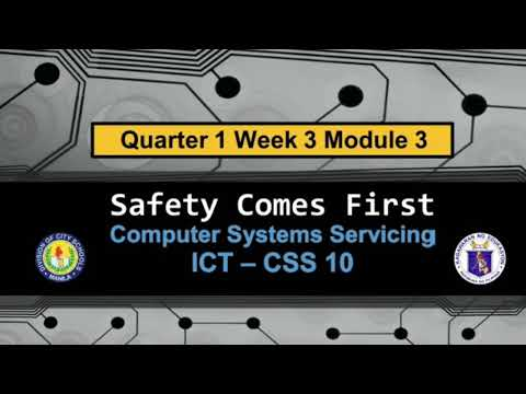 CSS 10   OCCUPATIONAL HEALTH AND SAFETY   MODULE 3 QUARTER 1  PART 1