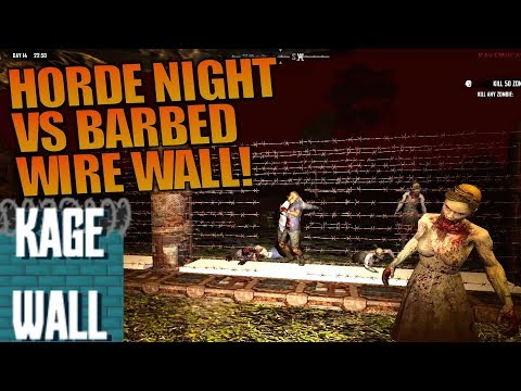 HORDE NIGHT VS BARBED WIRE WALL! | Ravenhearst MOD 7 Days to Die | Gameplay Alpha 16 | S01E21