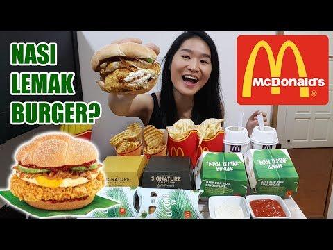 MCDONALD'S MUKBANG • Nasi Lemak Burger, Buttermilk Crispy Chicken, Classic Angus Beef  • Eating Show