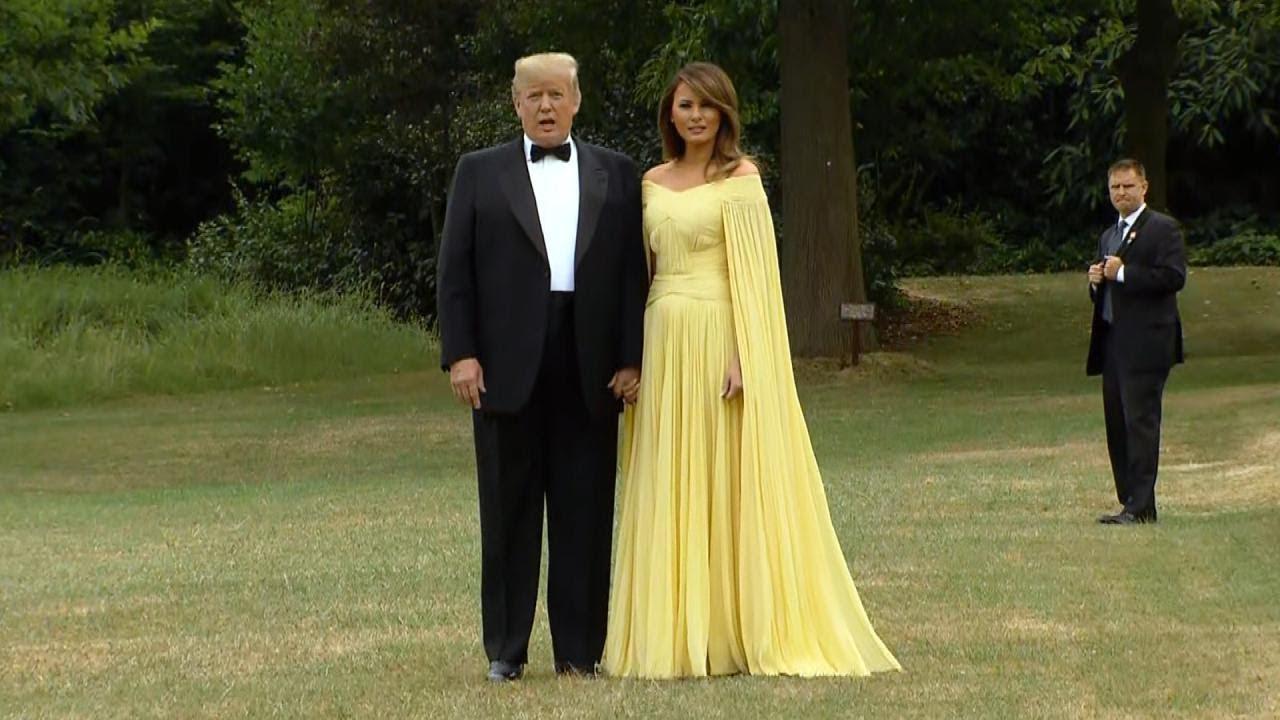 Robe jaune trump