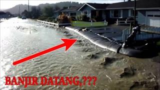 Awalnya ditertawakan,!! Saat Pria ini membuat pagar air, tapi saat banjir datang semua orang takjub