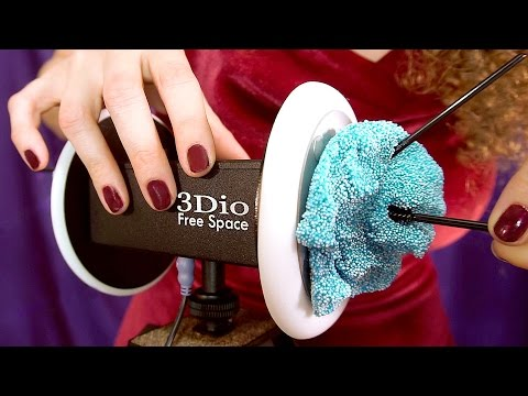 Floam & Slime! ASMR Ear Cleaning & Ear Massage Sounds – Binaural Whisper 3Dio
